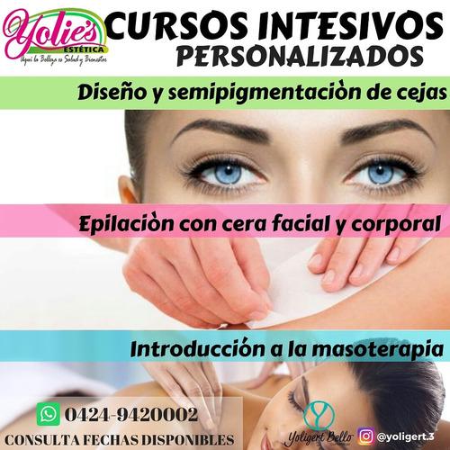 cursos básicos de estetica, depilación, masajes, cejas