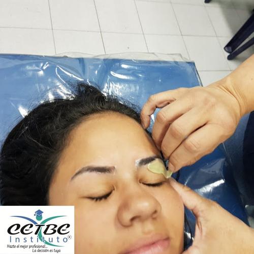 cursos cosmetologia, reflexologia depilación masaje cejas