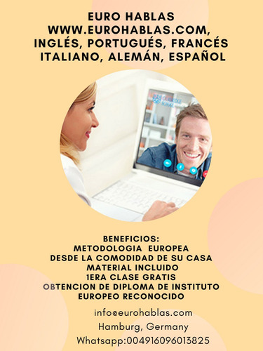cursos de inglés, francés, portugués, italiano y alemó