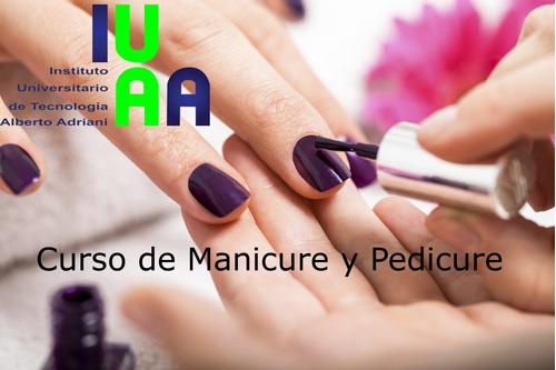 cursos de manicure, pedicure y maquillaje.