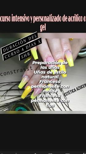 cursos de uñas esculpidas y semipermanente....martinez