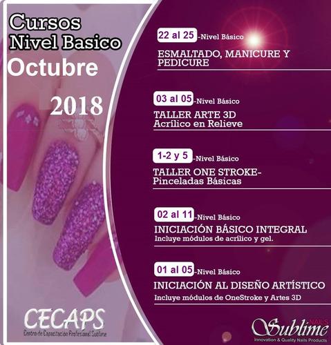 cursos en decoración de uñas en acrilico diseño artistico