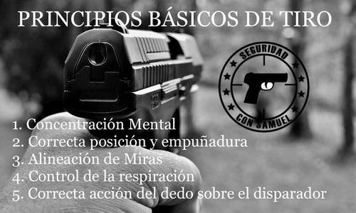 cursos manejo de armas de fuego y traumáticas, polígonos