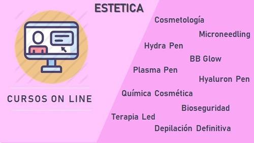 cursos on line. cosmetología y estética