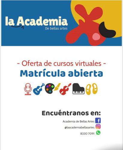 cursos online pintura, guitarra, bajo, piano, violín