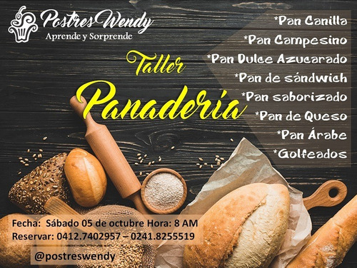 cursos panadería repostería pastelería, gastronomía