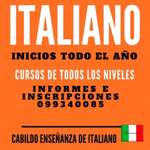 cursos y clases de italiano e idioma español