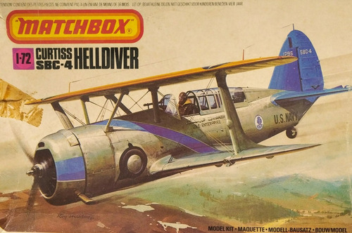 curtiss sbc-4 helldiver escala 1/72 matchbox