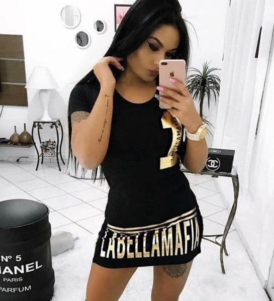 2cb06c0ce Vestido Curto La Bella Mafia Roupas Femininas Modinha 2018 - R  40 ...