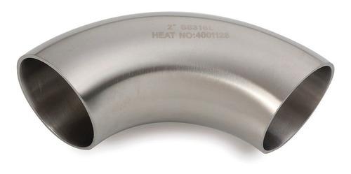 curva / codo  90° de acero inoxidable 50,8 x 1,5mm (2 pulg)