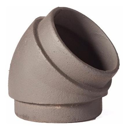 curva de fundición de hierro 45º 4 pulgadas macho/macho