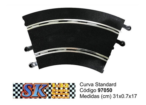 curva standard compatible scalextric 1/32 sk 97050