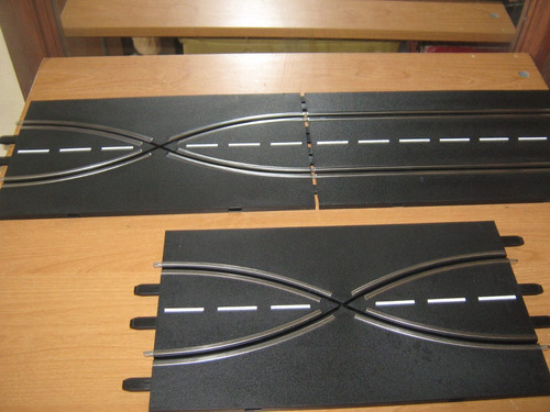 curvas de autopistas carrera, son 4 tramos en escala 1:24