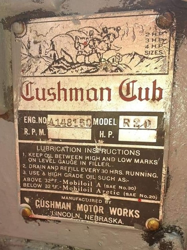 cushman cub modelo 1945