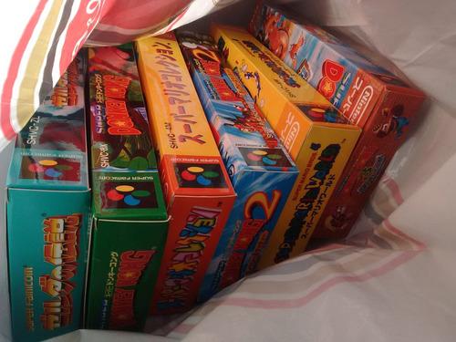 custom box caja juegos super nintendo japones