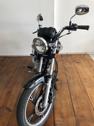 custom haojue chopper road 150cc preta 2019