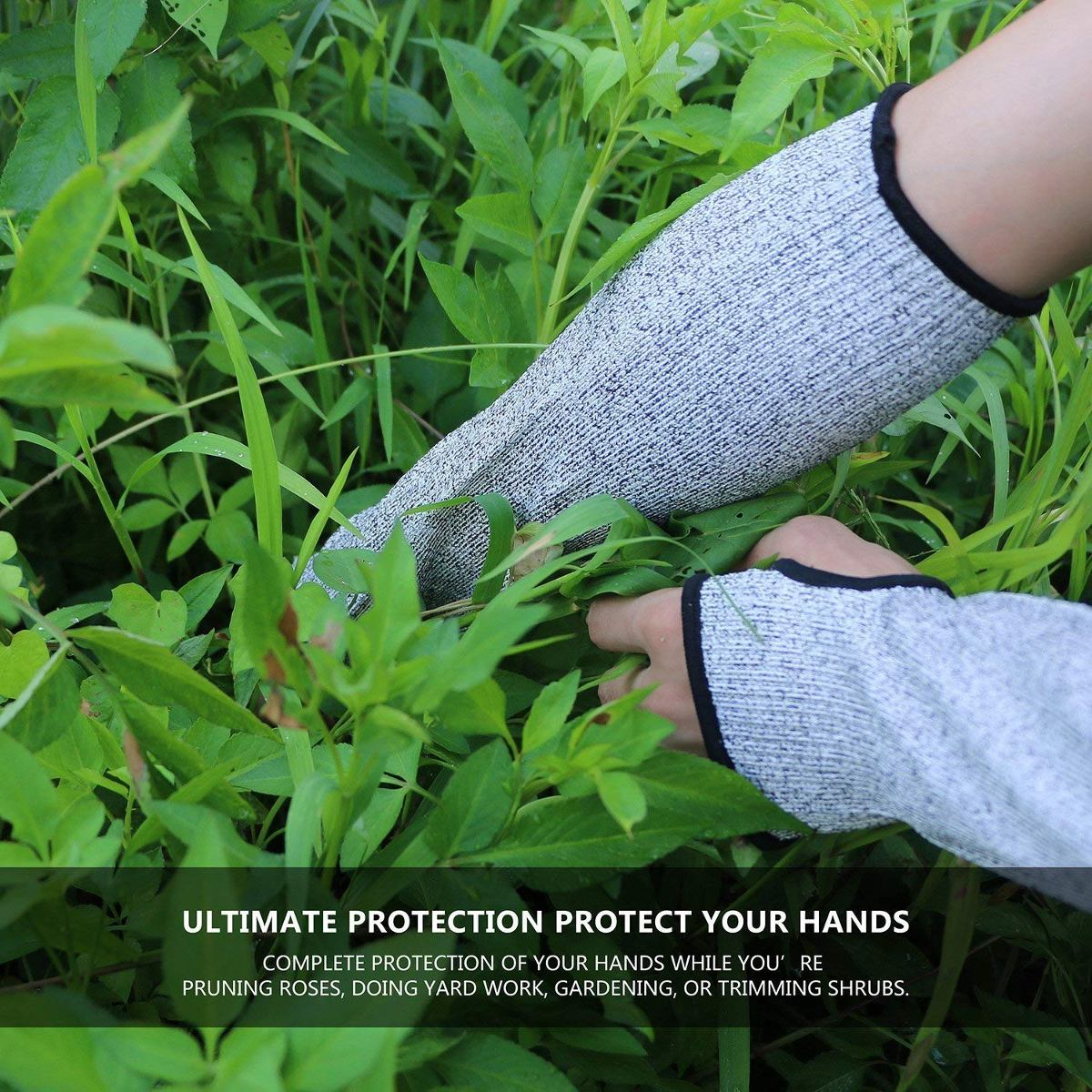 Cut Resistant Sleeves With Thumb Hole, Level 5 Protection, S