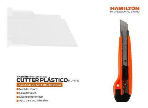 cuter cutter profesional plastico hoja 18mm hamilton cu180e