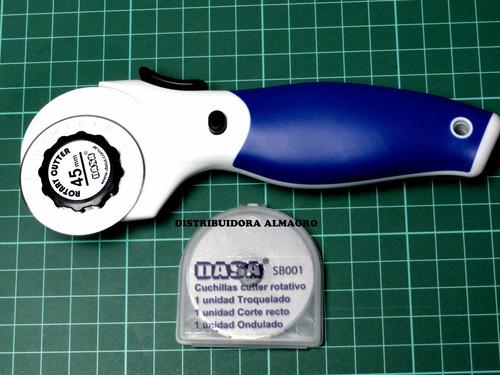 cutter circular rotativo 45 mm+ondulado+troquelado+recto