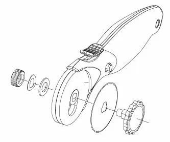 cutter circular rotativo 45mm dasa opc troquel city-ventas