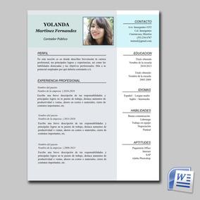 Cv Curriculum Vitae Formato Editable Para Word Docx