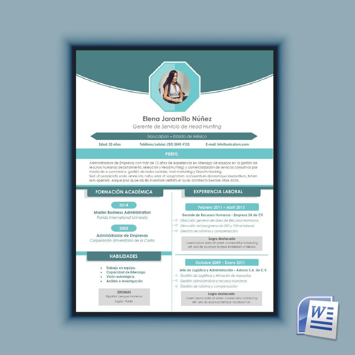 Excelente Software De Creación De Curriculum Vitae Creativo Bosquejo ...