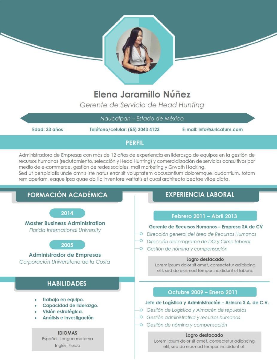 Cv Curriculum Vitae Profesional Creativo Azul Para Word 59 00