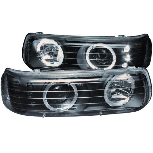 cv silverado 99-02 projector h.l halo black led