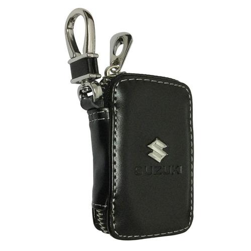 cview nuevo coche clave billetera cremallera caso negro cuer