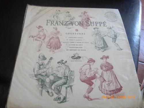 cvinilo lp  de  franz von zuppe - 6 oberturas  (u742
