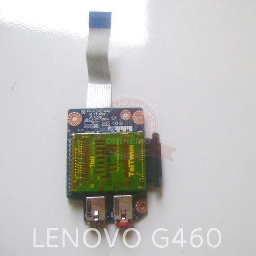 cx32.1- placa audio/som/leitor cartao notebook lenovo g460