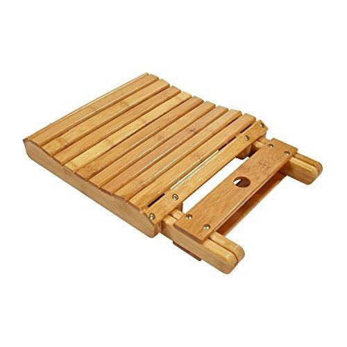 cyanbamboo taburete de bambú plegable banqueta de baño imper