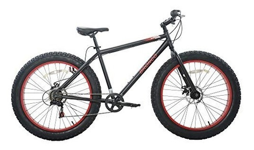 cycle force limited edition 26 men's fat tire bicycle, black