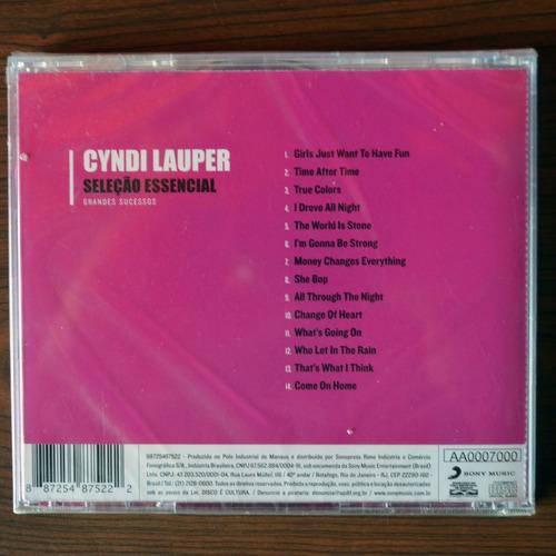 cyndi lauper cd selección esencial nuevo - sellado!