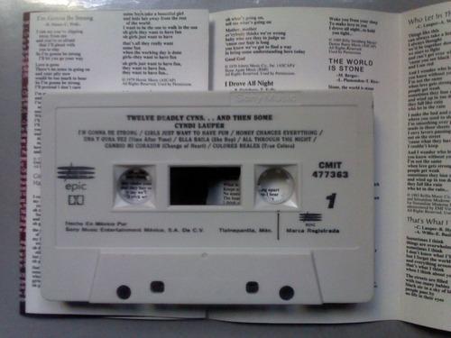 cyndi lauper twelve deadly cyns cassette + regalo cd remixes