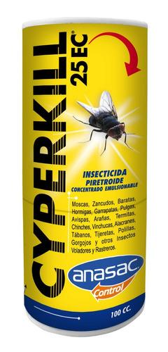 cyperkill 25ec 50ml insecticida plagas interior exterior tps
