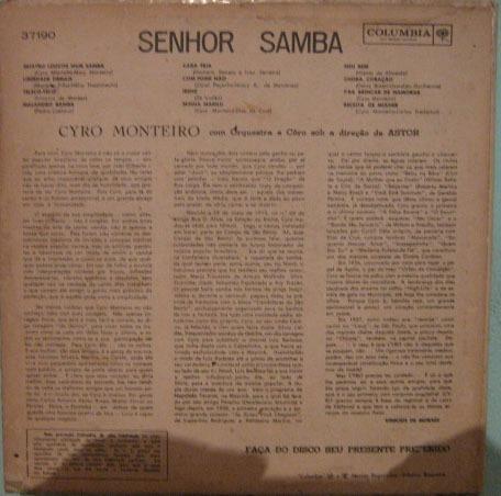 cyro monteiro - sr. samba