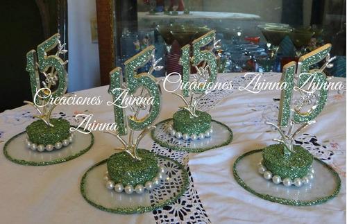 c.zhinna adorno centro 15 años bodas cotillon