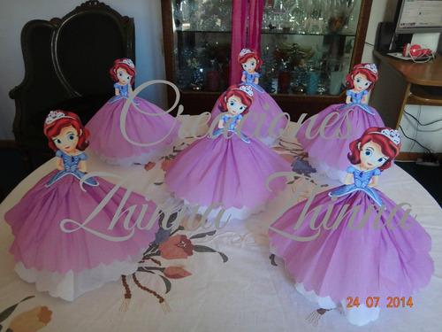 c.zhinna centros de mesa princesas sofia