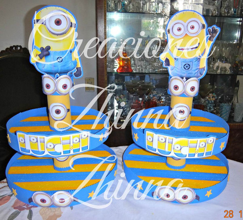 c.zhinna porta muffins souvenirs minions cotillon tematico