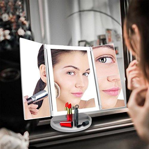 czw espejo de maquillaje de tocador con la ampliación 3x /