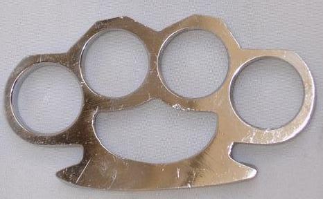 d acero boxer plata puño americano manopla defensa nudillos