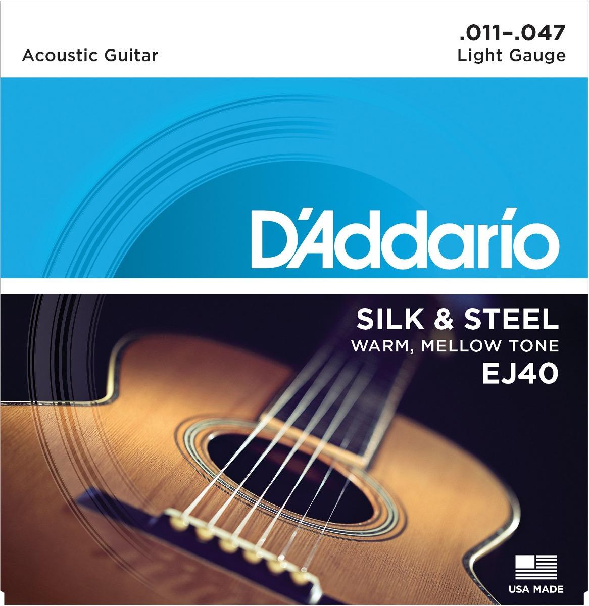 D Addario Ej40 Cuerdas De Guitarra Folklórica De Seda 1 ...