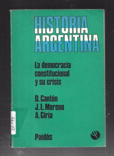 d. cantón y otros - la democracia constitucional y su crisis