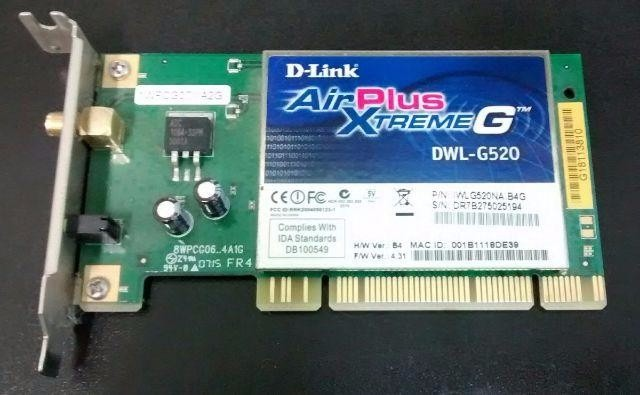 pilote d-link airplus xtreme g dwl-g520