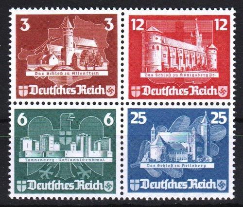 d. reich 1935. ostropa. serie completa de sellos del bloque