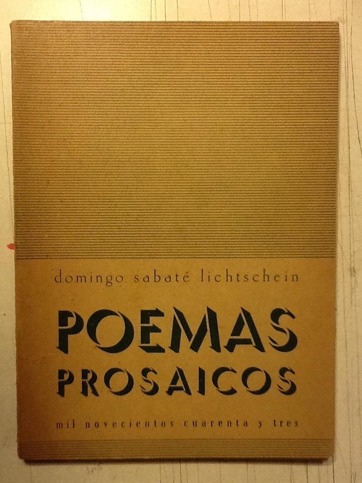 D Sabate Lichtschein Poemas Prosaicos Firmado 73125