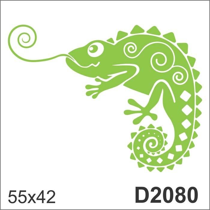 d2080 adesivo decorativo desenho abstrato camaleão lagarto r 85