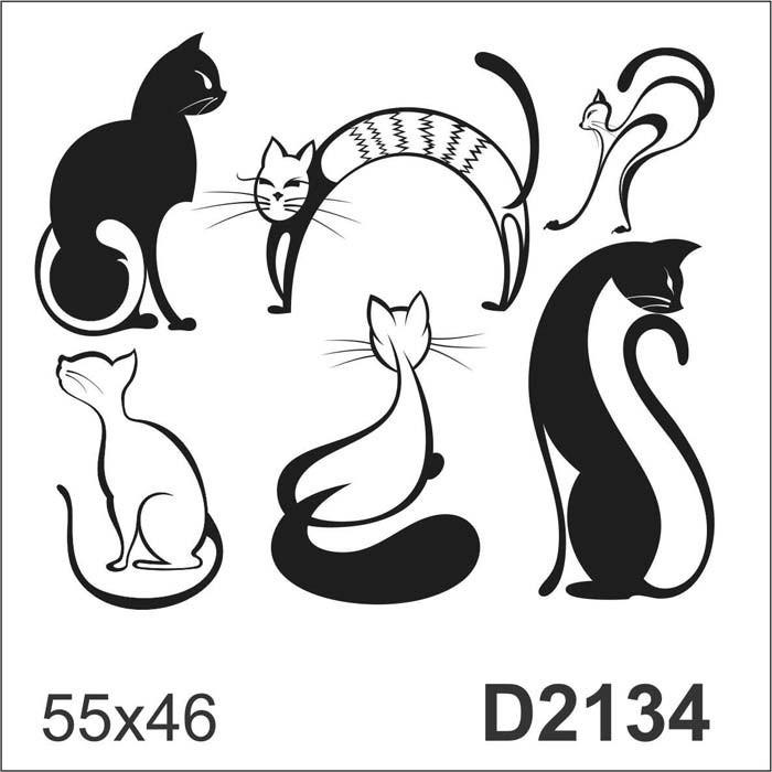 Aparador Suspenso Mercado Livre ~ D2134 Adesivo Decorativo Gato Gatinho Desenho Abstrato R$ 48,60 em Mercado Livre