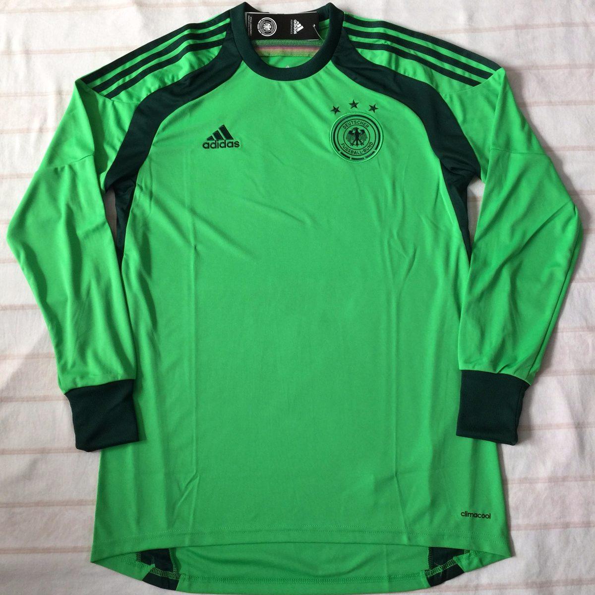 269adef75bb62 d85421 camisa goleiro adidas alemanha 2014 m verde fn1608. Carregando zoom.